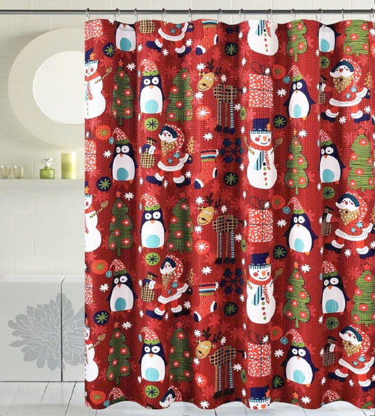 Christmas Decorative Shower Curtain