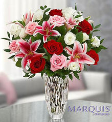 marquis-by-waterfordå¨-blushing-rose-and-lily-bouquet_gofruitMedium