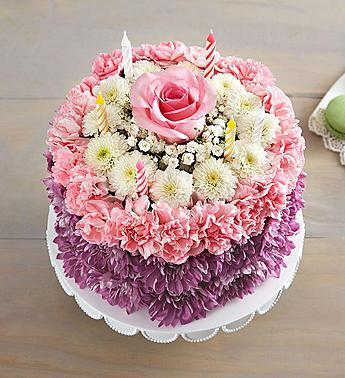 Birthday Wishes Flower Cake Pastel 1800GOFRUIT