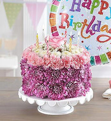 birthday-wishes-flower-cake-pastel_gofruitLarge w/ Balloon