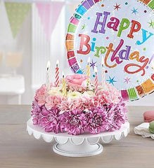 birthday-wishes-flower-cake-pastel_gofruitSmall w/ Balloon