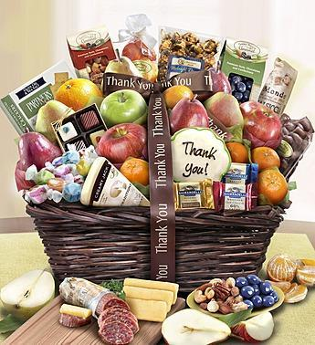 thank-you-fruit-sweets-gift-basket_gofruitThank You Fruit & Sweets Gift Basket Deluxe