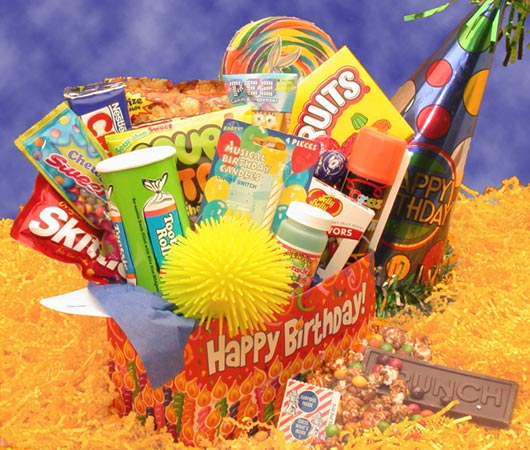 Deluxe-Happy-Birthday-Care-PackageGift Basket - Gourmet Basket