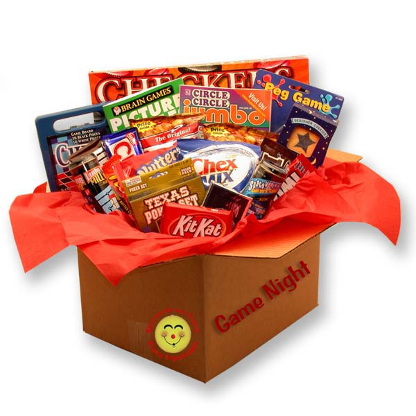 It's-a-Family-Game-Night-Care-PackageGift Basket - Gourmet Basket