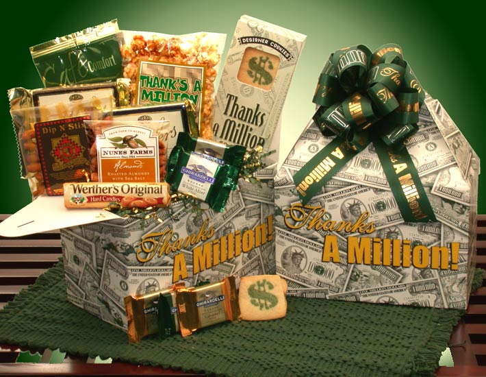 Thanks-A-Million--Deluxe-Care-PackageGift Basket - Gourmet Basket