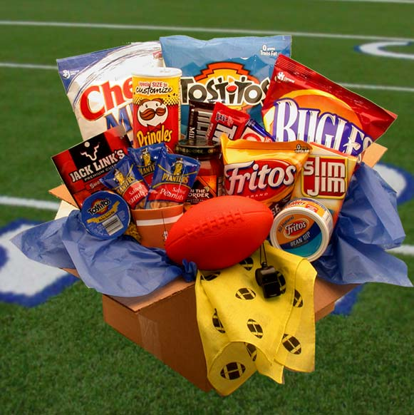 Touchdown-Game-Time-Snacks-Care-PackageGift Basket - Gourmet Basket