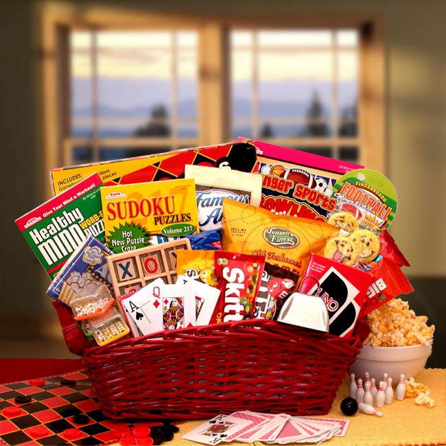 Fun-&-Games-Gift-BasketGift Basket - Gourmet Basket