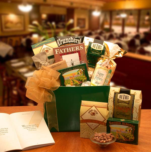 Father-Knows-Best-Father's-Day-Gift-boxGift Basket - Gourmet Basket