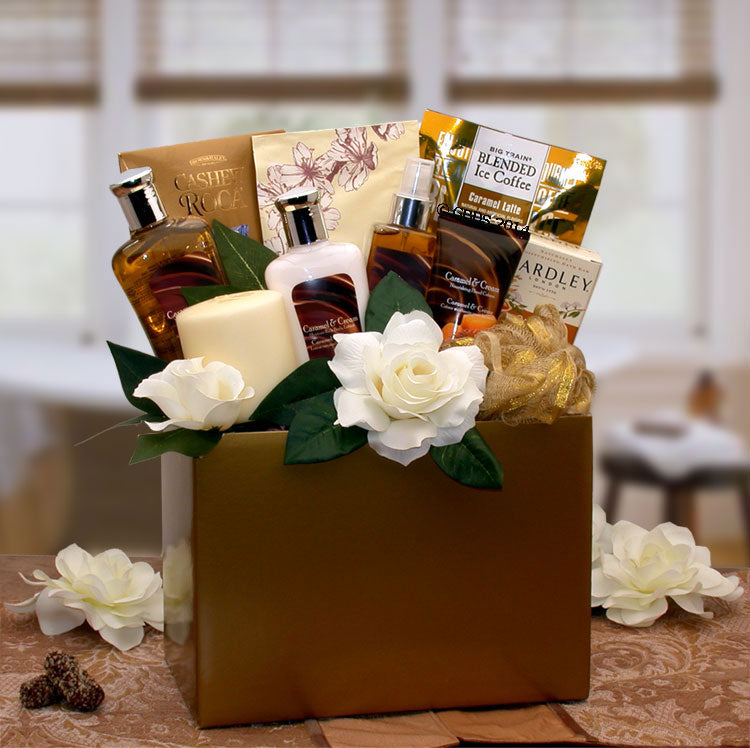 Caramel-Inspirations-Spa-Gift-BoxGift Basket - Gourmet Basket