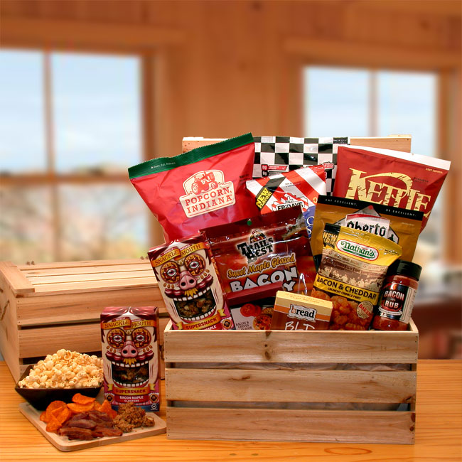 The-Baconator-Gift-CrateGift Basket - Gourmet Basket