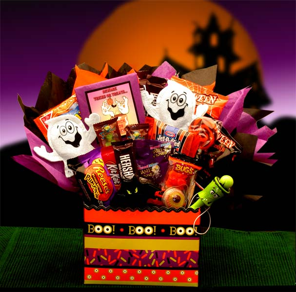 Boo-Mania-Halloween-BouquetGift Basket - Gourmet Basket