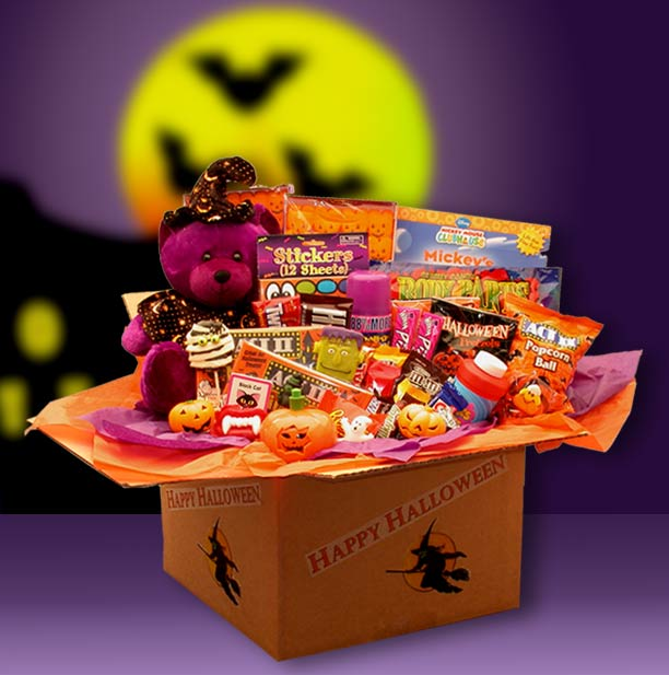 Happy-Halloween-Activities-Deluxe-Care-packageGift Basket - Gourmet Basket