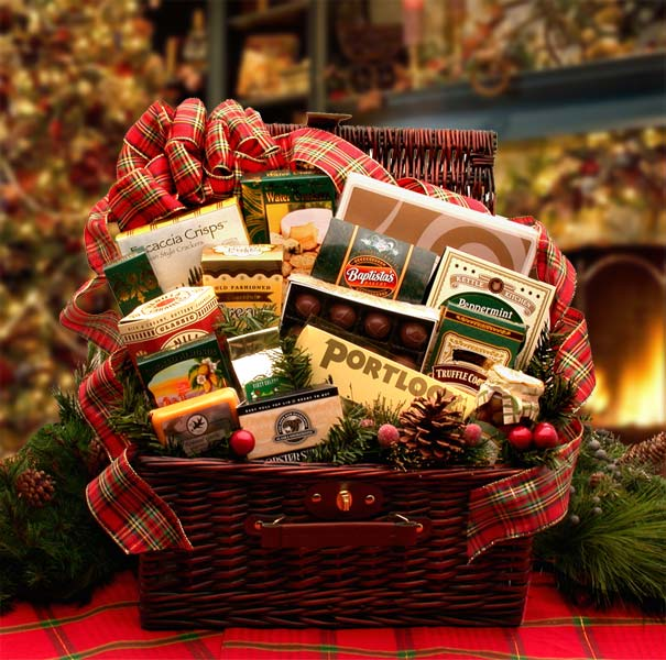 Home-&-Hearth-Fireside-Holiday-HamperGift Basket - Gourmet Basket