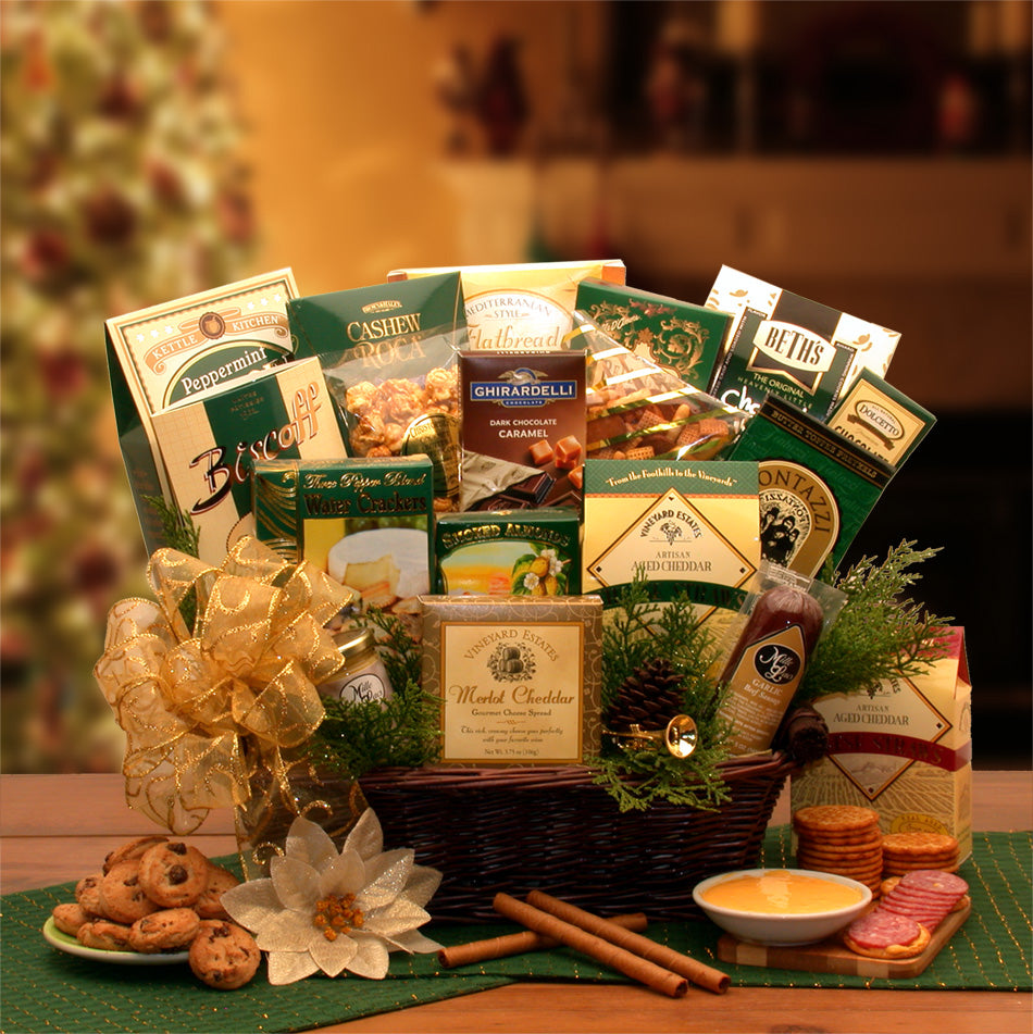 The-Holiday-Sampler-Gift-BasketGift Basket - Gourmet Basket