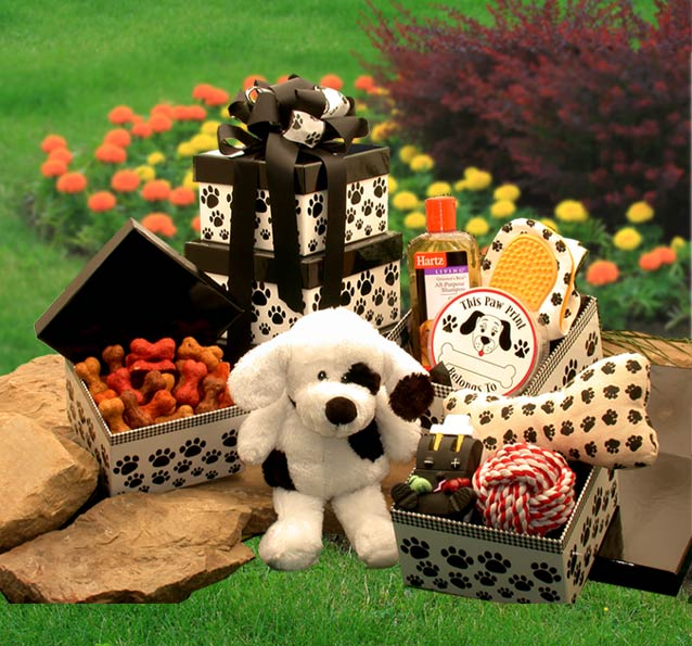 Patches'-Doggie-TowerGift Basket - Gourmet Basket
