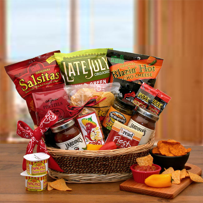 A-Little-Spice-Gourmet-Salsa-&-Chips-Gift-BasketGift Basket - Gourmet Basket