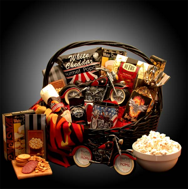 He's-A-Motorcycle-Man-Gift-BasketGift Basket - Gourmet Basket