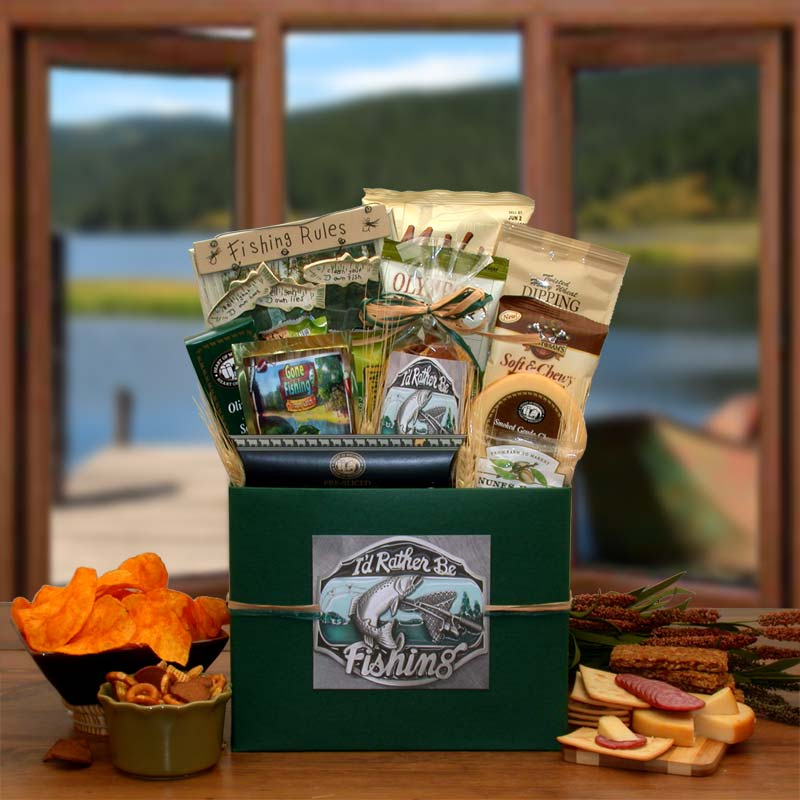 I'd-rather-Be-Fishing-Gift-BoxGift Basket - Gourmet Basket