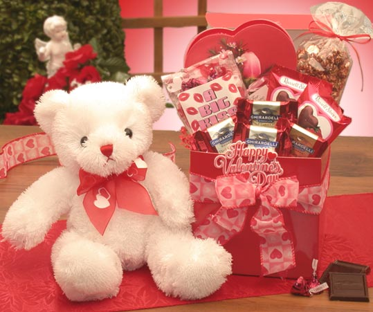 A-Big-Kiss-For-You--Valentines-Day-Care-PackageGift Basket - Gourmet Basket