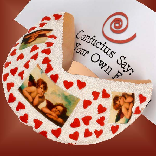 Lil'-Angels-Giant-Valentine's-Fortune-CookieGift Basket - Gourmet Basket