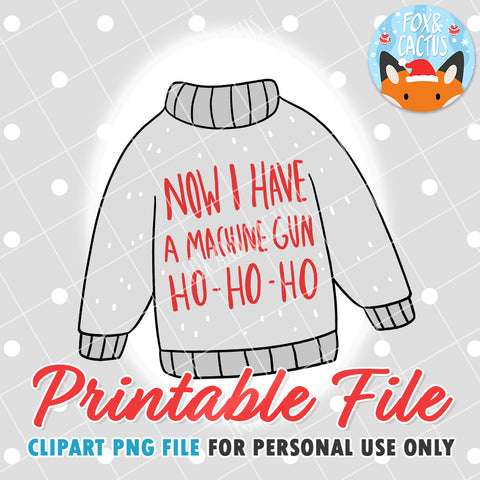 Christmas Sweater (DIGITAL DOWNLOAD) - Printable/Clipart File - Personal Use Only
