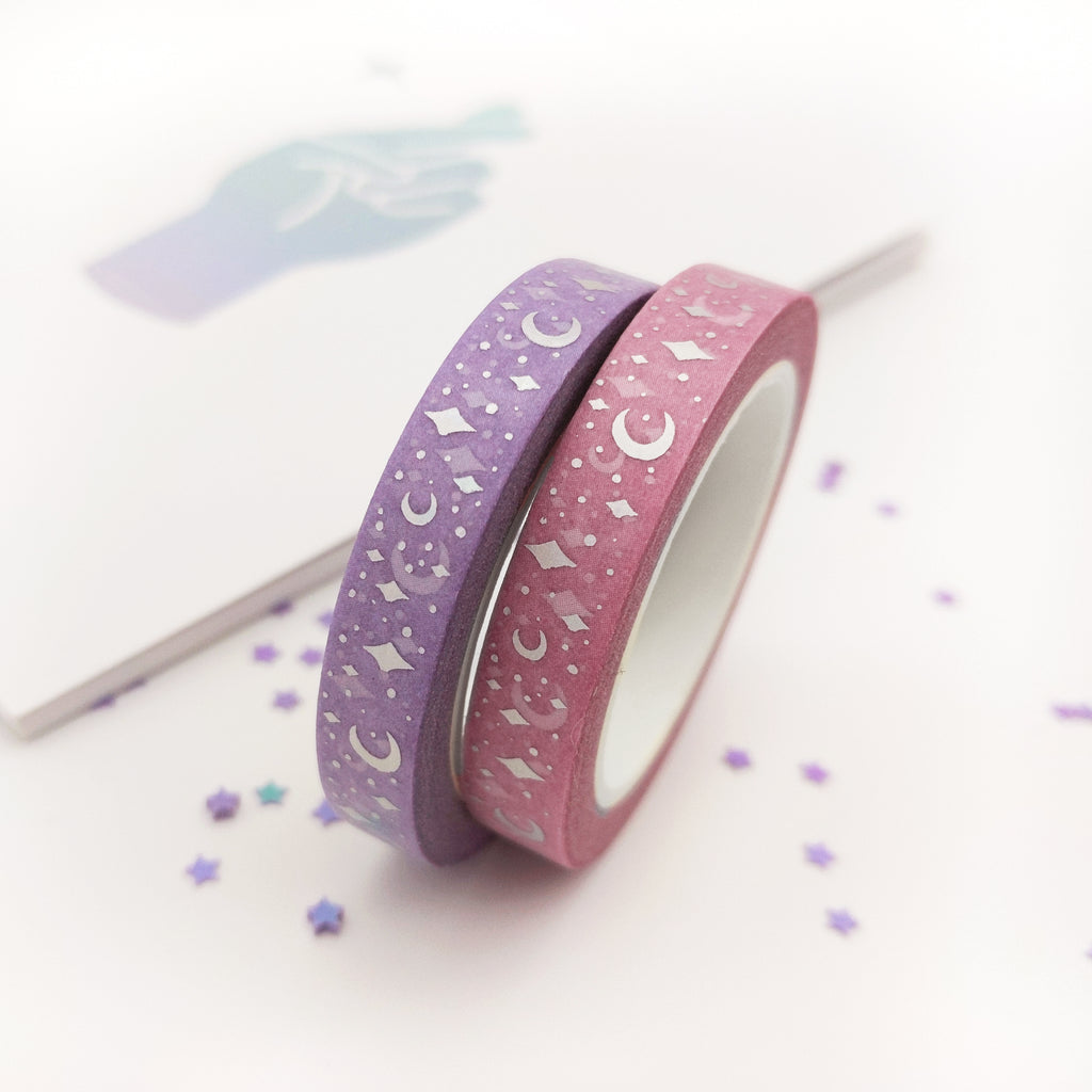 Holo Foil Purple Celestial 7.5mm Washi Tape (W0039)