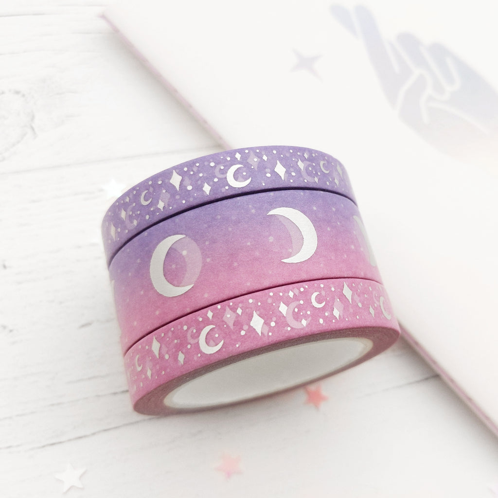 Holo Foil Moon Phases Washi Tape (W0032)