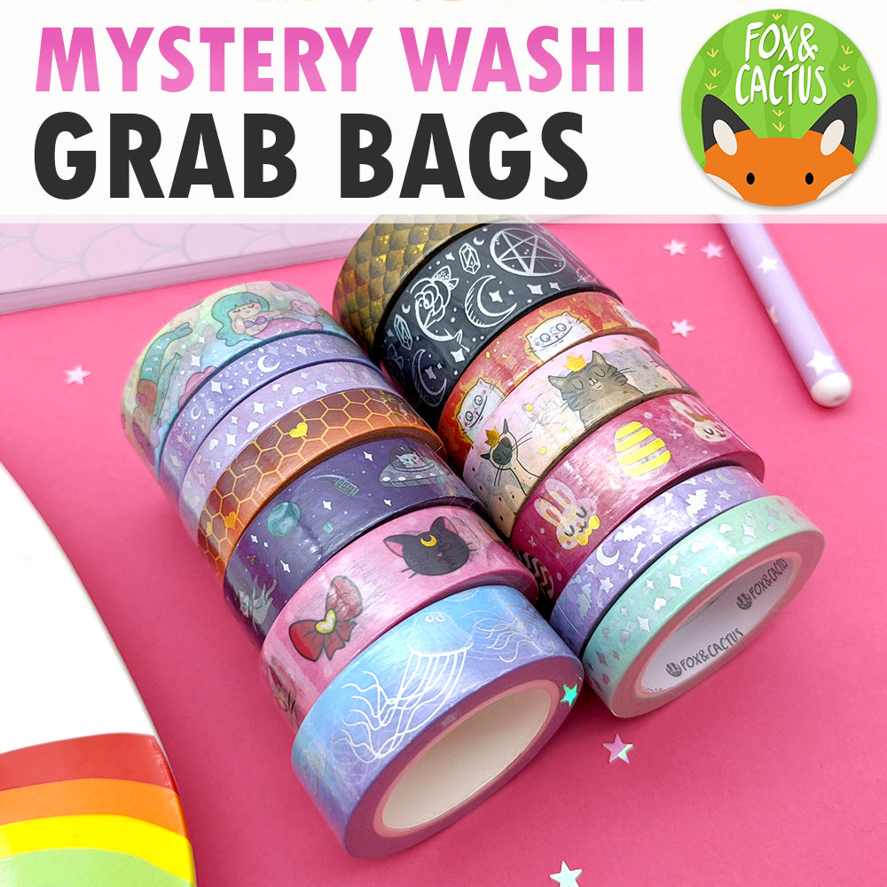 Mystery Washi Tape Grab Bags (MAX 3 PER PERSON)