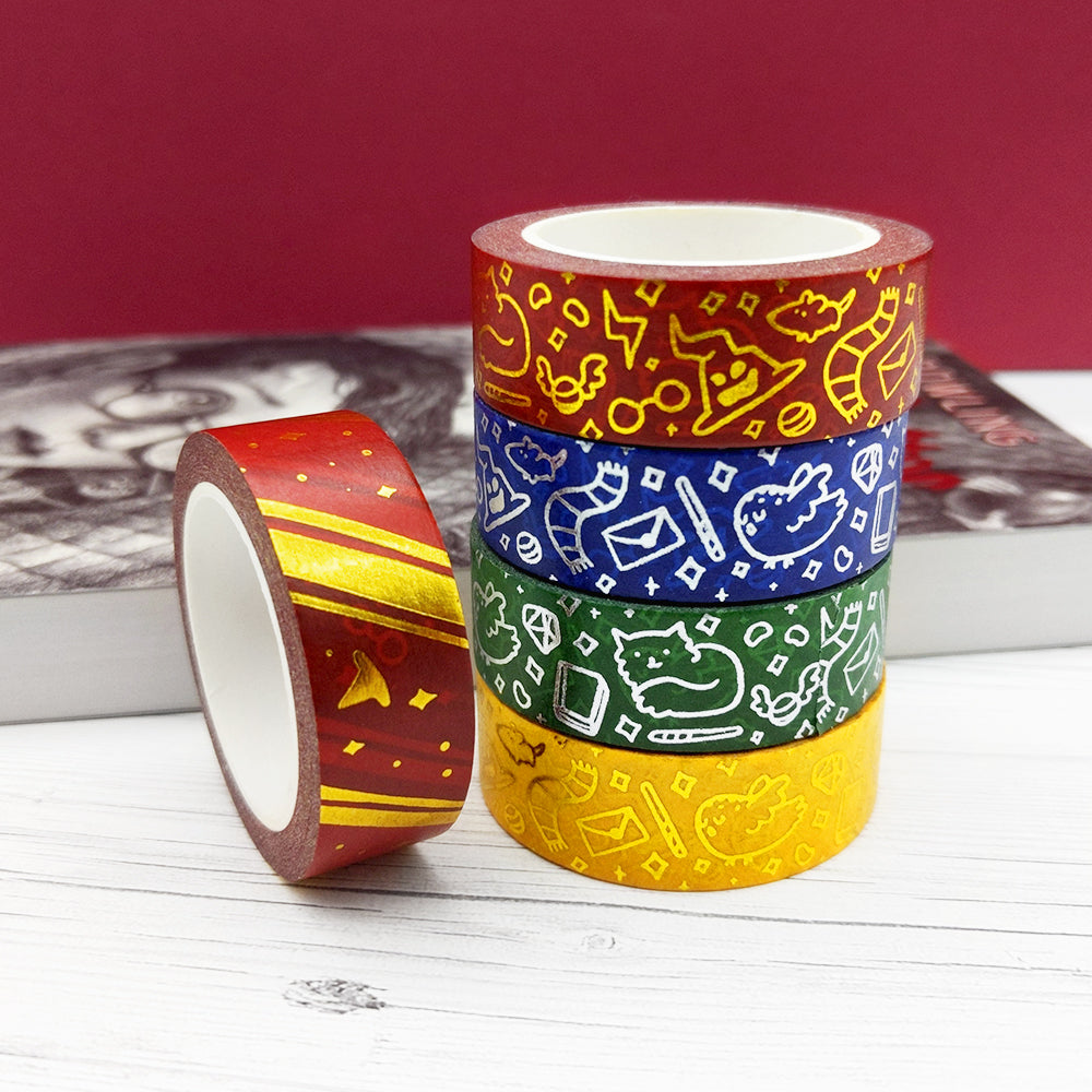 Gold Foil Wizard Stripes Washi Tape (W0102)