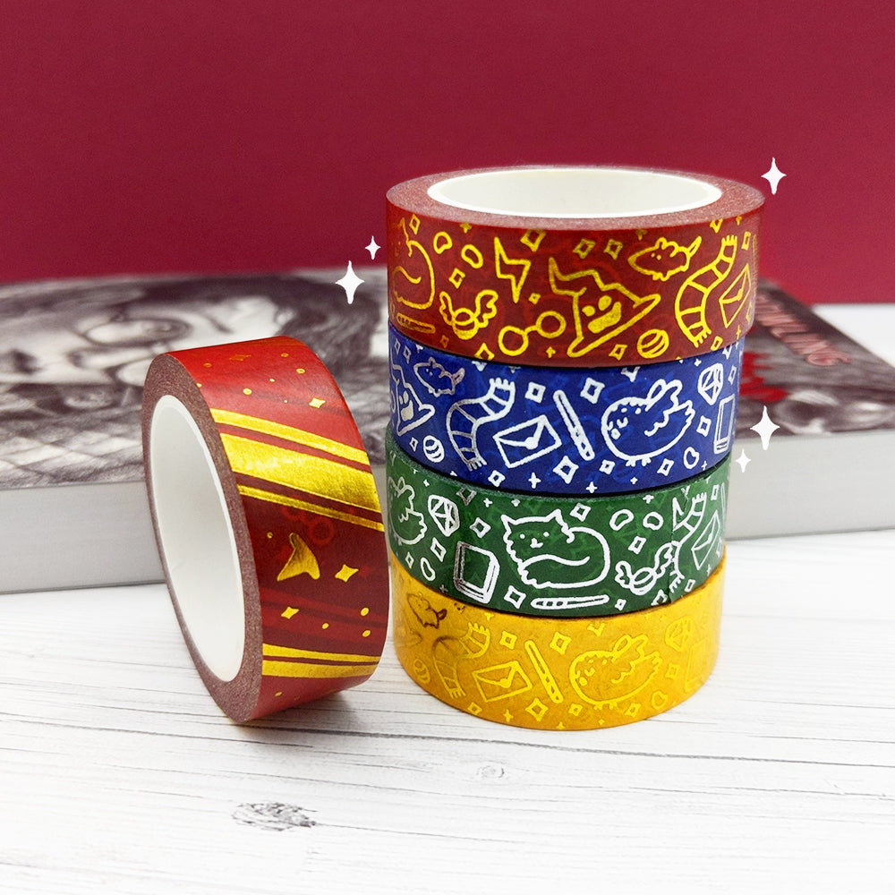 Foiled Wizard House Washi Tapes (W0103-W0106)