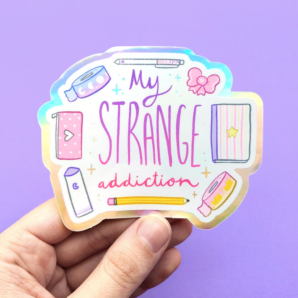 Holographic My Strange (Planner) Addiction Vinyl Die Cut Sticker (ST0143)