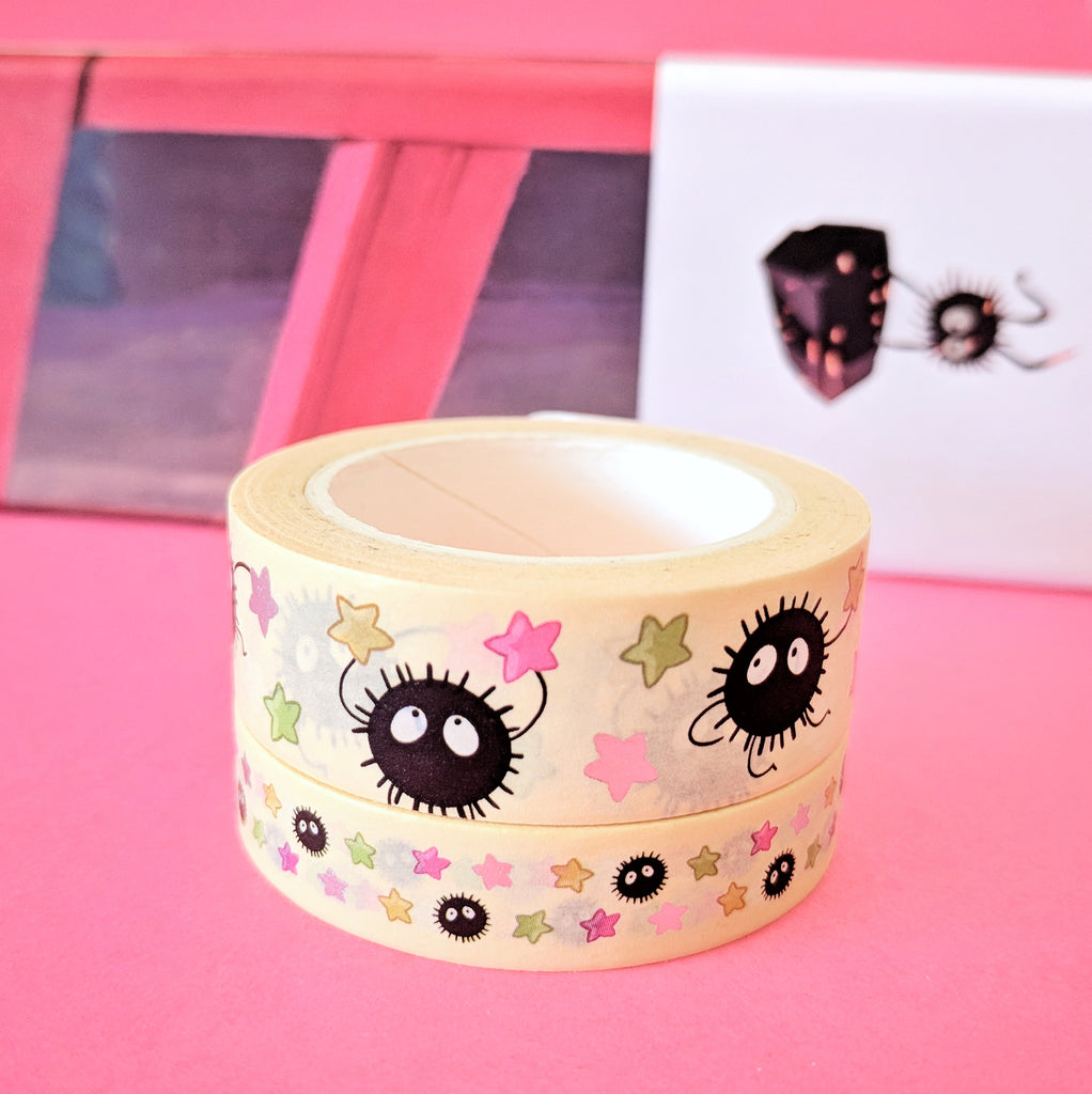 Silver Foil Sooted Away 10mm Washi Tape (W0058)