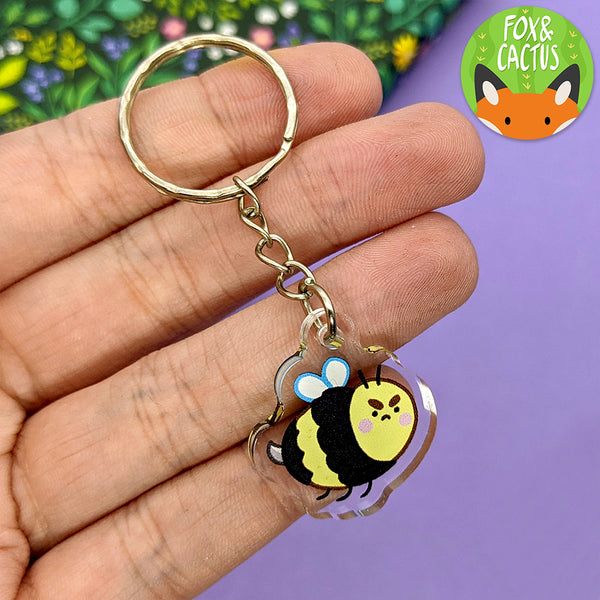 Reversible Bee Keychain (AC0108)