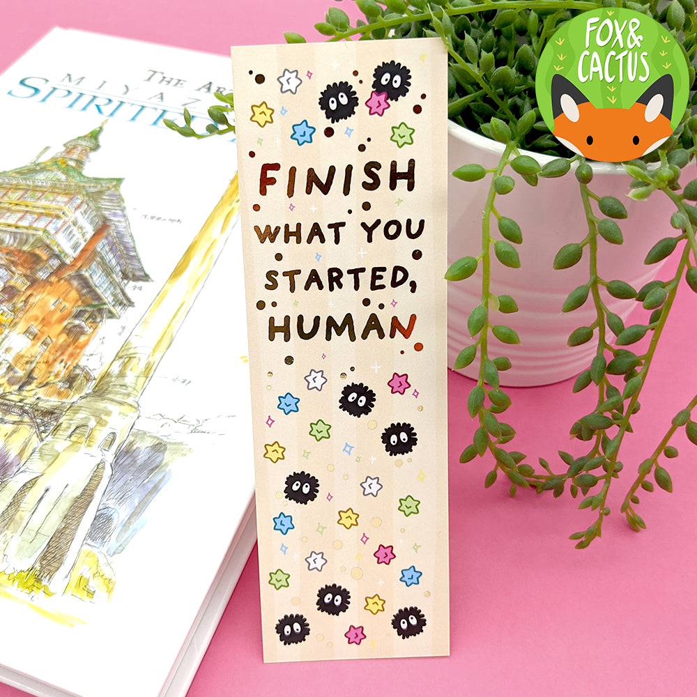Finish What You Started Foiled Bookmark (ST0181) (Slight Imperfections)