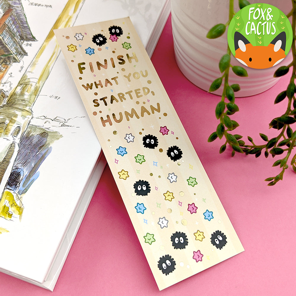 Finish What You Started Foiled Bookmark (ST0181) (Slightly Imperfections)