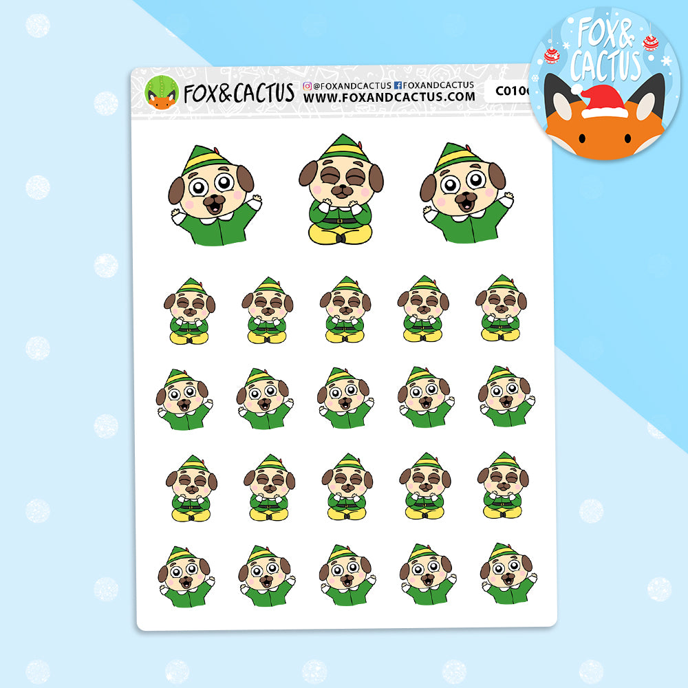 Pete the Elf Stickers (C0106)