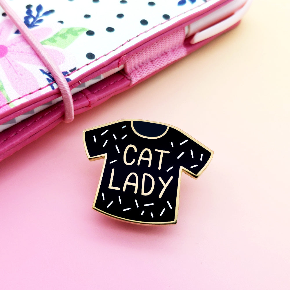 Cat Lady Enamel Pin (ST0055)