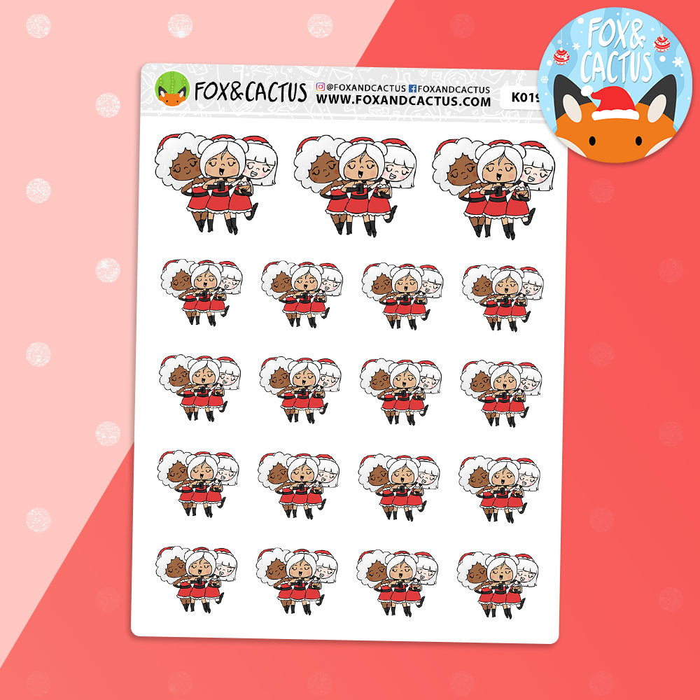 Mean Girls Christmas Girl Trio Stickers (K0195)