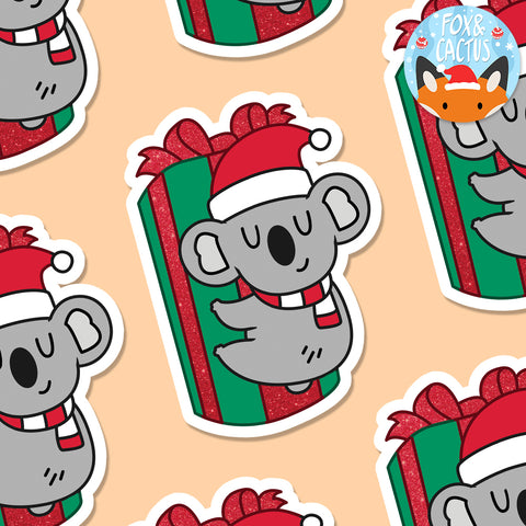 Christmas Koala Vinyl Die Cut Sticker (ST0146)