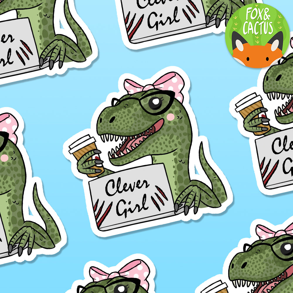 Clever Girl Vinyl Die Cut Sticker (ST0020)