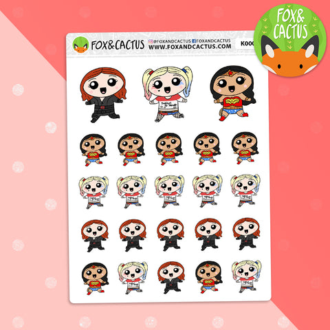 Cosplay Girls V1 Stickers (K0009)