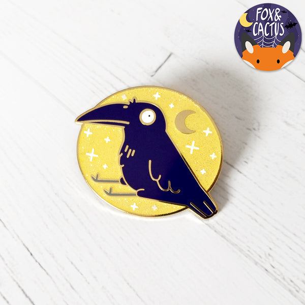 Dawn Cutie Crow Enamel Pin (ST0052)