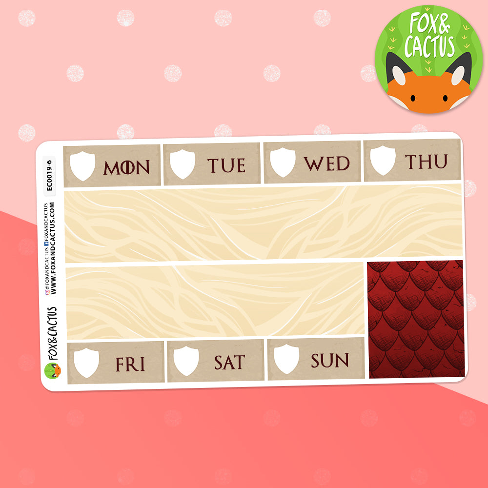 Mother of Dragons EC Vertical Weekly Kit Stickers (EC0019)