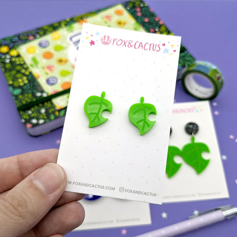 Leaf Stud Earrings (AC0012)