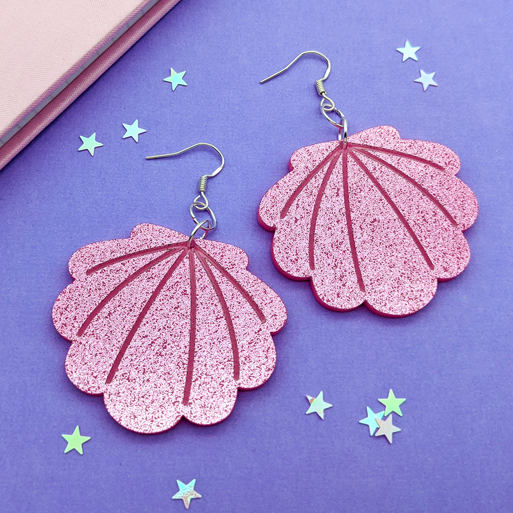 Upside Down Seashell Dangle Earrings (AC0014)