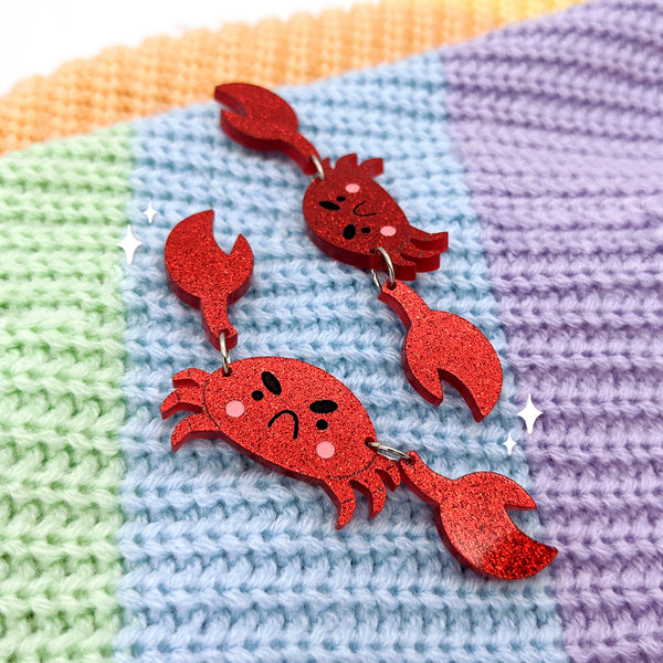 Cranky Crab Dangle Earrings (AC0018)