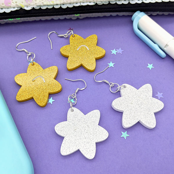 Star Fragment Dangle Earrings (AC0019)