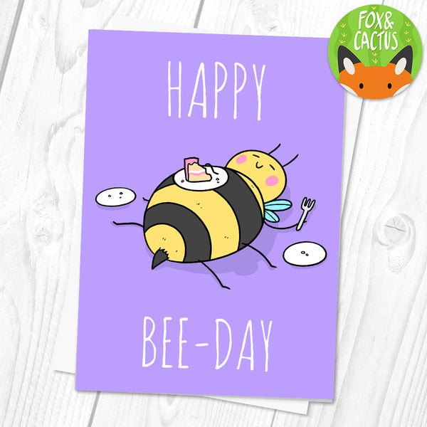 Happy Bee-Day Greeting Card (ST0101)