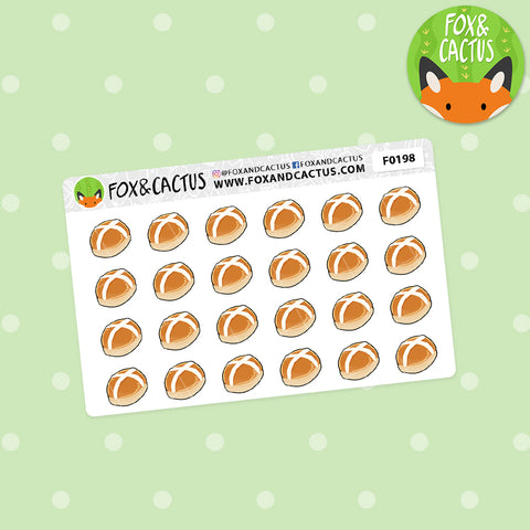 Hot Cross Buns (Mini Sheet) Stickers (F0198)