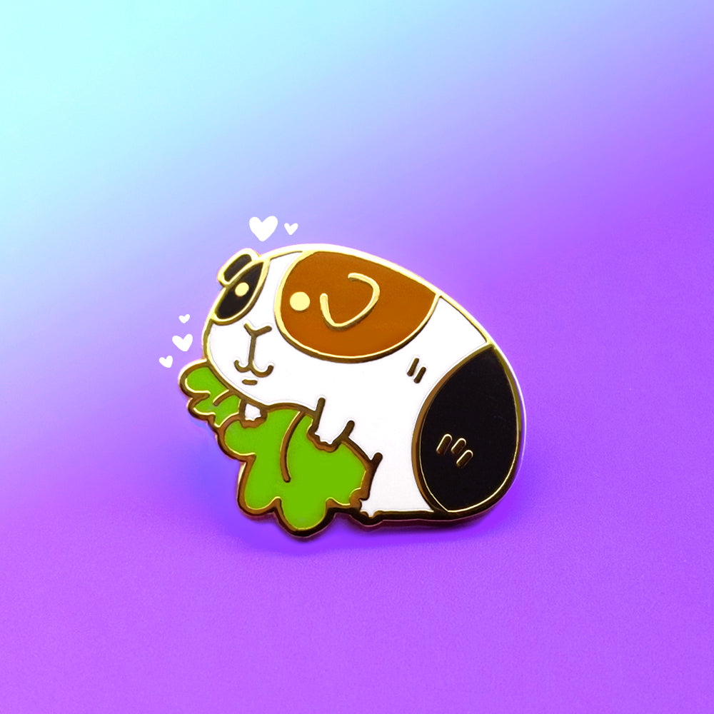Tricolour Itty Bitty Piggy Enamel Pin (ST0053)
